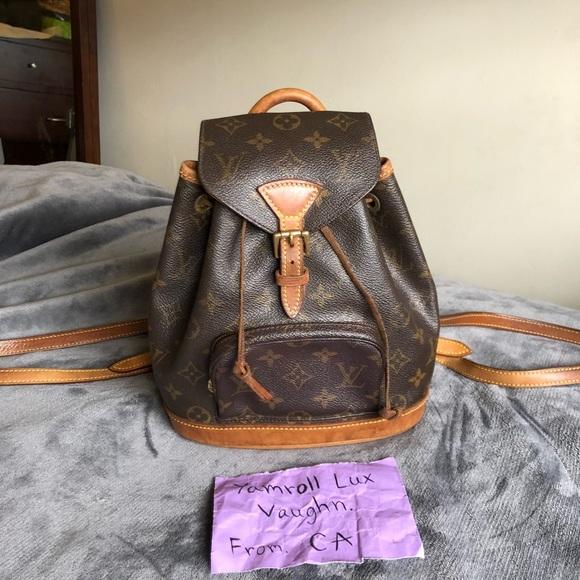 c2435d6e924e Louis Vuitton Handbags - Authentic Louis Vuitton Montsouris backpack mini